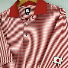 FOOTJOY JAPAN FLAG Medium Mens Golf Casual Polo Shirt Stretch Short Sleeve Red