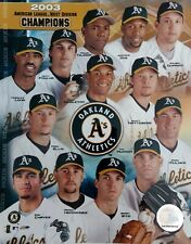 OAKLAND ATHLETICS 2003 AMERICAN LEAGUE WEST DIVISION CHAMPIONS 8X10 PHOTO