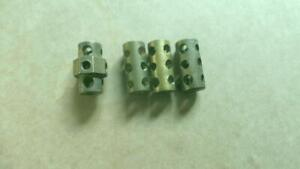 MECCANO 3 Brass Couplings & a Octagonal Coupling  No 63/63a