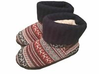 Next Unisex Memory Foam Warm Pull On Christmas Slipper Boots NEW