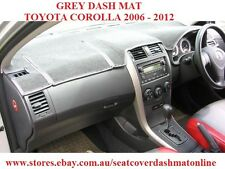 DASH MAT, DASHMAT, DASHBOARD FIT TOYOTA COROLLA SEDAN 2006-2012  GREY