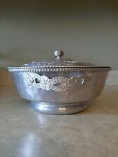 Vintage Hammered Aluminum Casserole Covered Dish Covered