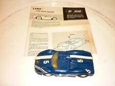 Rare Lynx 1/24 Vintage Slotcar - By Atlas slot racer voiture circuit