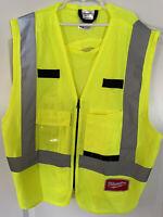 Milwaukee 48-73-5021 High Visibility Yellow Safety Vest - Small/Medium