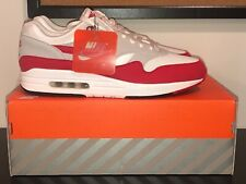 Nike Air Max 1 One Sz 12 30th Anniversary OG White University Red 908375-103
