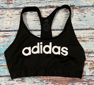 womens ADIDAS sports bra Medium black and white climalite