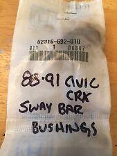 NOS NEW OEM HONDA 88-91 CIVIC CRX ACCORD PRELUDE SWAY BAR BUSHING 52316-692-010