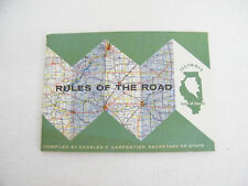 Vintage 1960's Illinois Rules Of The Road For Driving Test
