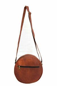 Vintage Leather Crossbody Bag Women Girls Satchel Handbag Messenger Sling Bags