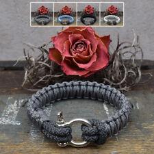 ❦ Armband HARRY Segeltau 5 mm Schäkelverschluß Farbe, Anhänger & Größe wählbar ❦
