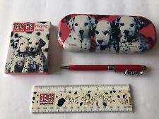101 Dalmatians Disney lot - Writing Pen W/Tin Box, Ruler, Playing cards Puppies
