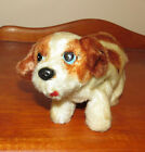 Vintage Mohair Dog, Winds up and Walks, Made In Japan, Tin Litho Eyes, Terrier?