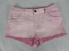 Wrangler Size 12 Shorts Denim Pink Cut Offs Stretch Hi Cheeky Daisy Duke