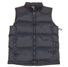 NWT Polo RALPH LAUREN Boys S 8 Down Vest Jacket Black Navy Blue PONY New