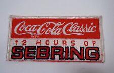 "Vintage 12 Hrs.of Sebring Embroidered Iron-On Patch 4.25"" Sebring Florida IMSA"