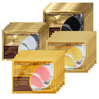 10pairs efero Crystal Collagen Eye Mask Gold Gel Eye Pads Anti Aging Dark Circle