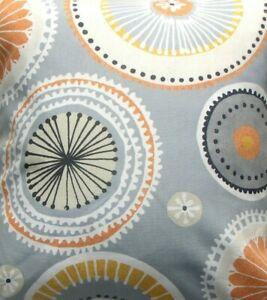 Orange Circles fabric
