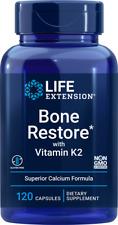 Life Extension Bone Restore With Vitamin K2 120 Capsules