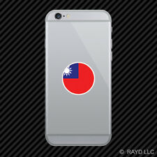 Round Chinese Flag Cell Phone Sticker Mobile peoples republic of china red