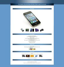 Ebay listing template , HTML 5 Template, Auction Template, amazing blue shop