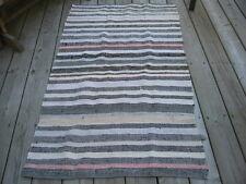 """#369 vtg  handmade RUG RAG RUNNER WOVEN cotton material  34.5""""x 61"""" in"""