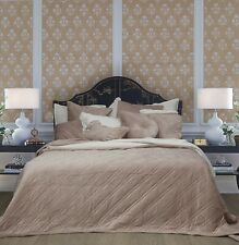 Blush Pink Luxe Velvet Cotton Bedspread Set - King