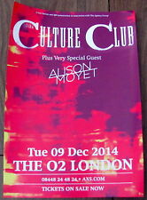 CULTURE CLUB UK TOUR 2014 LONDON A4 POSTER ALISON MOYET BOY GEORGE
