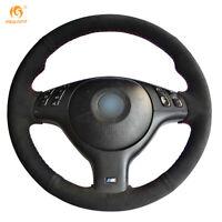Top Suede Steering Wheel Cover for BMW E46 E39 330i 540i 525i 530i M3 #FZ013