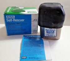 New MSA W65 Self Rescuer Air Purifying Respirator W/ Holster, Boot Part# 461100