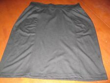 PRE-OWNED EXCEPTON PETITES BLACK KNITTED  SKIRT - 14P  - FREE SHIPPING