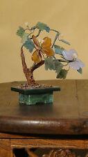 VINTAGE CHINESE GREEN JADE VASE AGATE,JADE ,PEKING GLASS IKEBANA BONSAI FLOWERS
