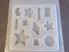 Resin Mold Stars Jewels 11 Count Jewelry Octagon Diamond Bar Rectangle Star