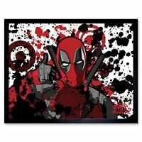 Deadpool Graffiti Superhero Art Print Framed Poster Wall Decor 12X16 Inch