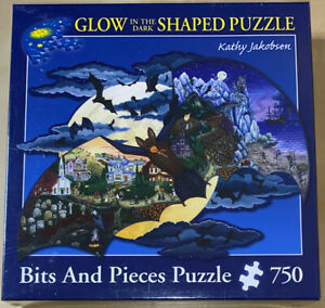 Bits And Pieces ~ Glow In The Dark Shaped Puzzle ~ 750 Pieces ~ Kathy Jakobsen
