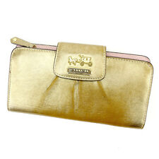 Auth COACH Fastener Wallet Ladies used I439