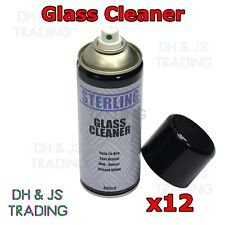 12x Glass Cleaner Spray Aerosol Valet Valeting Car Care Cleaning Window Clean