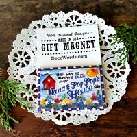 DecoWords Gift Magnet Nana Pop Pop 's We have ALL Relatives Available New USA
