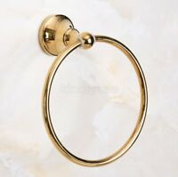 Luxury Gold Color Brass Round Bathroom Towel Ring Towel Rack Holder Kba883