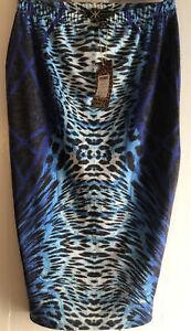 Kim Kardashian For Lipsy Animal Print Glitter Pencil Skirt Size 10 New With Tags