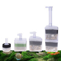 Fish Tank Aquarium Pump Air Driven Bio Corner Filter Sponge Fry Betta nano TB