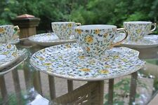 6 Vtg Chintz YADA China Luncheon/Snack Plates & Cups +Two Plates Made In Japan
