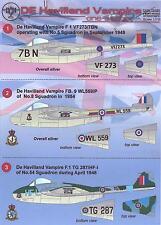 Print Scale Decals 1/72 DE HAVILLAND VAMPIRE British Jet Fighter