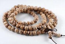 "6mm 108PCS Qinan Sandalwood Aquilaria agallocha Mala Meditation Loose Beads 25"""