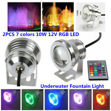 Waterproof RGB LED Light Fountain Pool Pond Spotlight Underwater+ Remote Control
