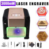 3000mW Mini Desktop DIY Logo Mark CNC Engraver Laser Engraving Machine Cutter