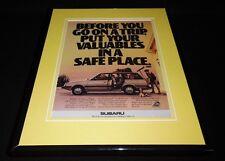 1988 Subaru Wagon Framed 11x14 ORIGINAL Vintage Advertisement