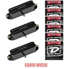 Seymour Duncan SHR-1 Hot Rails Black Strat Set (6 STRING SETS) SHR-1b & 2-SHR-1n