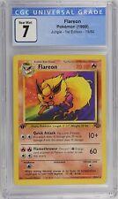 Pokemon - CGC 7 Flareon 19/64 Jungle 1st Edition PSA 7