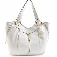 NEW-MICHAEL KORS MD MOXLEY VANILLA WHITE LEATHER TOTE,PURSE,SHOULDER+HAND BAG
