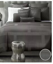 Hotel Collection Frame Nickel Gray Queen Duvet Cover & Two Standard Shams.